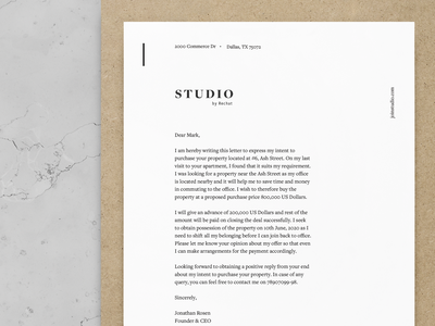 Letter head sophisticated luxury clean brand strategy brand identity branding design real estate technology real estate print design letter head