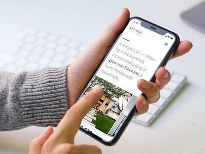 Listing template responsive I studio luxury web design iphone x ios listing template real estate agent real estate template design mobile design repsonsive ui