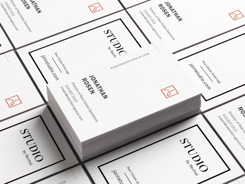 Vertical real estate business card luxury rechat branding design brand identity real estate agent real estate branding clean print business cards realestate