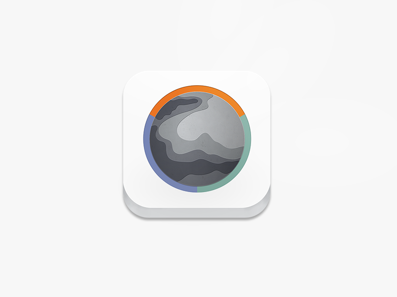 Gaia App Icon app icons icons ios hiking game clean white topographic topography outdoors