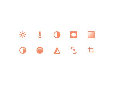 Photo tool icons edit icons icons ios flat icon sets spayce photos ui