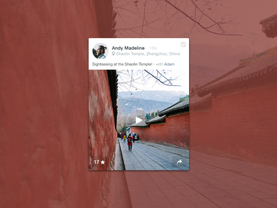 Shaolin Temple photography minimal clean ui ios spayce travel china temple memory journal