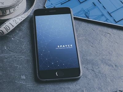 Startup Screen ios spayce startup screen minimal space fractals clean networking social media memory connections iphone