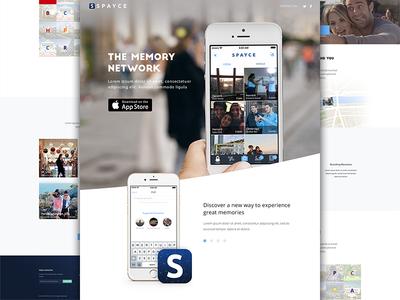 Spayce Landing Page 1 spayce landing page website web design space iphone ios app social media apple