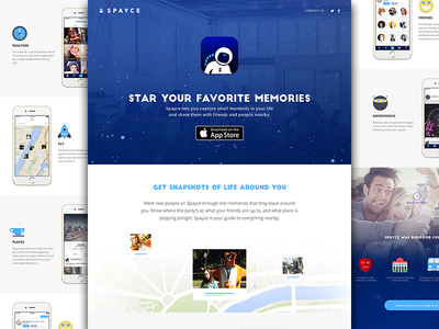 We've Launched! spayce landing page website web design web space astronaut stars illustration ios iphone app icon