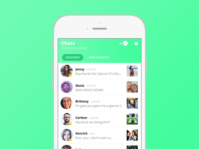 Spayce Chats messaging explore friends flat chat minimal clean ux ios mobile ui spayce