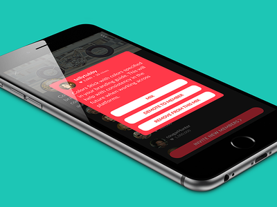 Profile Card card modal mobile iphone ux ui secure private chat messaging profile