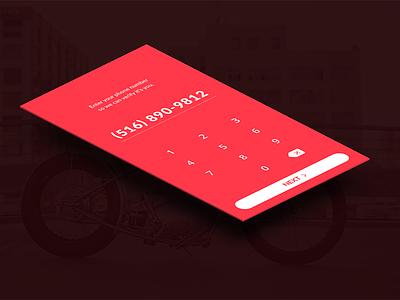 Verification phone iphone ios clean simple onboarding secure ux ui mobile verification