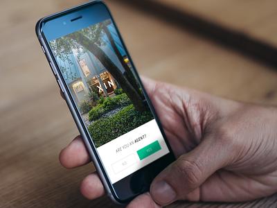Sign Up Prompt app splash screen design welcome screen mobile clean ux ui ios