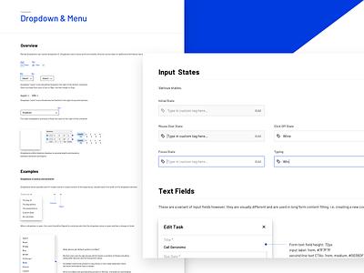 Interface Guidelines desktop web mobile documentation component software design real estate crm minimal clean ux ui design brand guide design system style guide