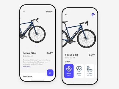 Bicycle App clear design clean design clear clean app ux ui
