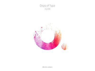 a : Days of Type pastels typogaphy letter colour typography illustration identity illustrator design clean