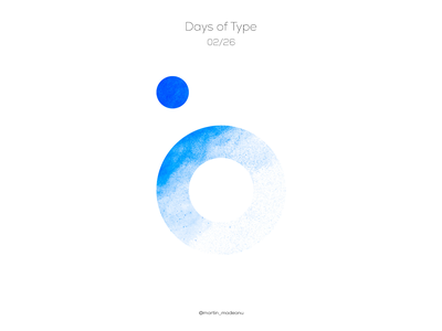 b : Days of Type typography pastels letter illustrator illustration identity design colour clean