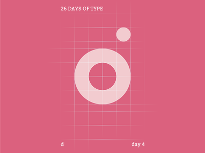 d : 26 Days of Type grid pink colour typography branding flat illustrator design clean