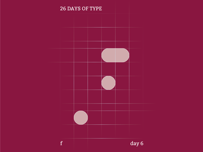 f : 26 Days of Type abstract typography identity branding illustrator design clean