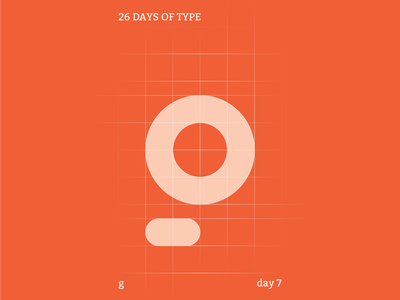 g : 26 Days of Type abstract colour typography identity flat illustrator design clean