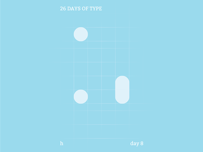 h : 26 Days of Type abstract typography identity flat illustrator design clean