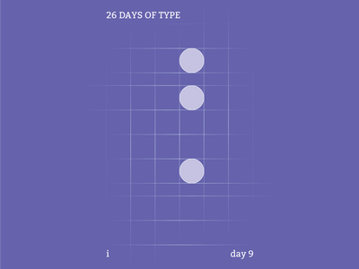 i : 26 Days of Type abstract typography branding flat illustrator design clean