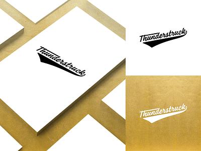 Thunderstruck Logo lettering type minimal design flat clean icon typography vector logo identity branding