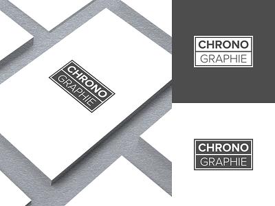 Chronographie Logo typography vector logo identity branding illustrator flat design clean