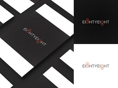 EightyEight Logo typography logo illustrator identity flat design clean branding