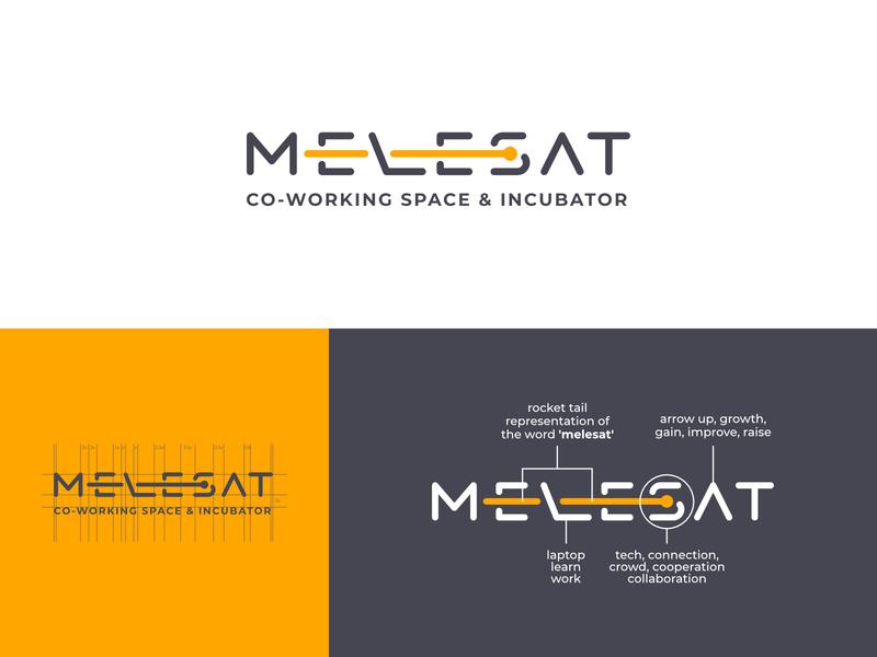 Melesat wordmark branding typography minimal minimalist logo logo designer brand identity
