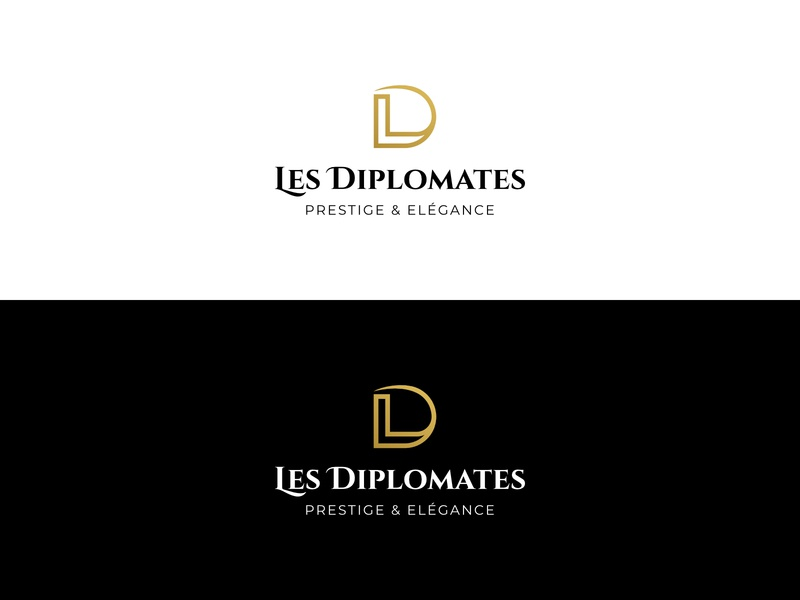 Les Diplomates typography letter initial logo identity brand