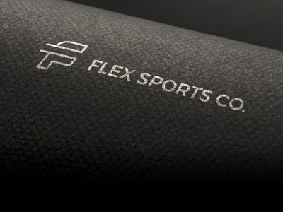 Flex Sports Co. minimal minimalist monolinear letter f f sports sport letter initial identity brand logo designer logo