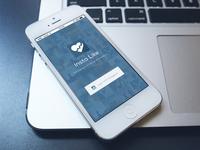 Insta Like iOS Mobile app Design Login Screen