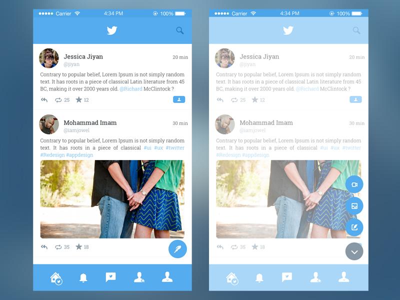 Twitter App Redesign by Imam Hossein on Dribbble
