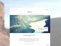 Adele - Yoga Trainers Website UI design
