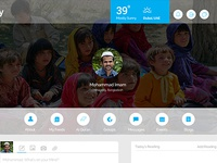 Profile Page for Educational Social Media Website