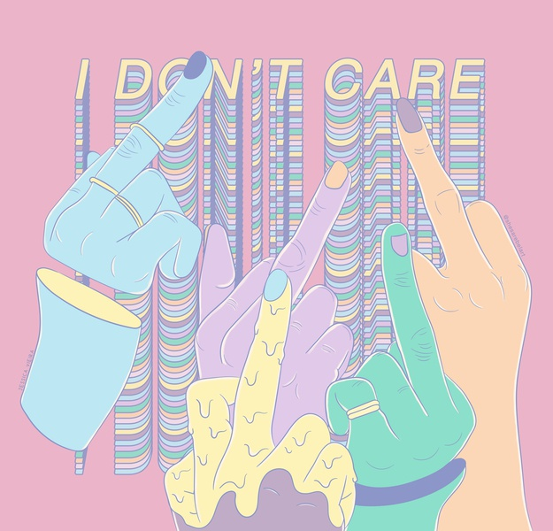 I DON'T CARE vector vaporwave typography ilustracion ilustração illustration illustartor digital branding desenho art  entertainment art digital art