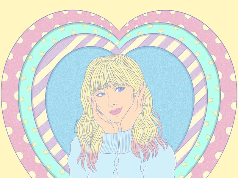 LOVER vaporwave pastel colors lover taylor swift fashion art fashion aesthetic vector illustrator design branding desenho ilustracion ilustração illustration digital art  entertainment art digital art