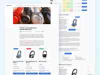 Tech Products Review Article Page clean web headphones technology article review product ux ui
