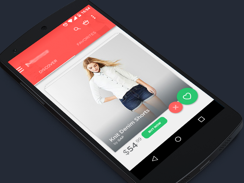 Shopping app ux ui shopping shop android lollipop app