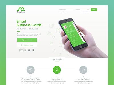 Swap Once Homepage design web minimal simple landing page ux ui homepage