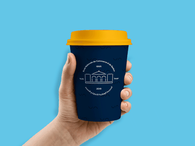 Coffee cup ENCGT mockup logo design branding