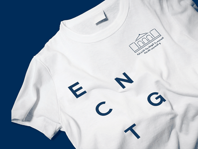 Tshirt Concept ENCGT mockup tshirt logo vector design branding