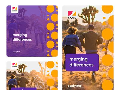 Scoly Social Media Design identity design social media design design branding