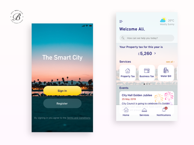 Smart City App Concept adobe xd ux design local government user experience app design mobile app design mobile app app website uxui userinterface ux ui