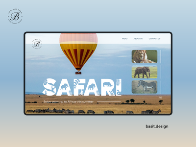 Safari Website Concept behance dribbble adobe photoshop adobexd daily ui graphic userinterface uxui africa safari graphics design graphics graphicdesign illustration design adobe xd website ux ui