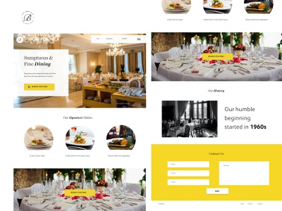 Restaurant Website Landing Page web design prototype user interface graphics adobe xd uiinspiration dine in dinning restaurant ui design ux design user experience behance daily ui app app design design website ui ux