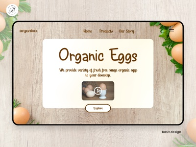 Organic Food Shop typography minimal web design landing page graphics graphic design prototype product design delivery app ui design food delivery food app web design ecommerce user inteface user experience ux ui website