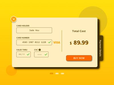 DailyUI#002_Credit Card Checkout