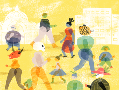 Walking free for KM Cero Magazine digital 2d art direction illustration editorial illustration