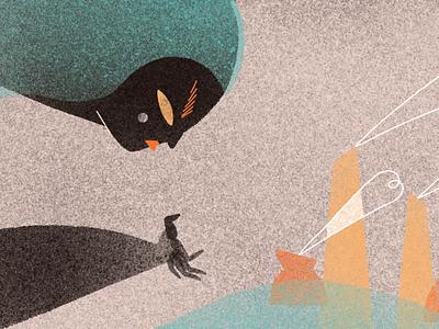 Nature against us for Cream Magazine digital 2d art direction illustration editorial illustration