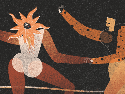 The Dance. 2/3 digital 2d art direction illustration