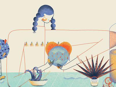 Last Supper: Lula Martín del Campo editorial illustration digital 2d art direction illustration