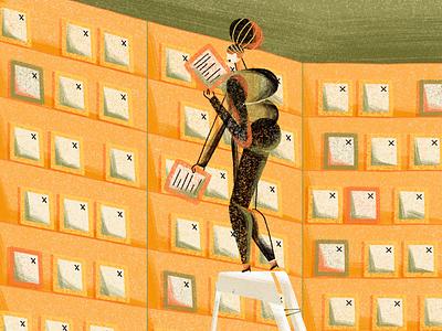 Project Gutenberg editorial illustration digital 2d art direction illustration